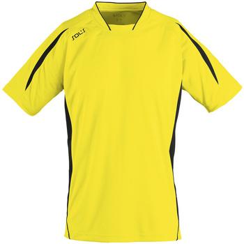 textil Herr T-shirts Sols MARACANA 2 SSL SPORT Amarillo