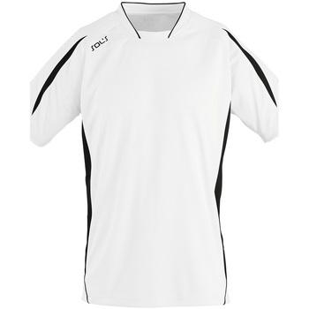 textil Herr T-shirts Sols MARACANA 2 SSL SPORT Blanco