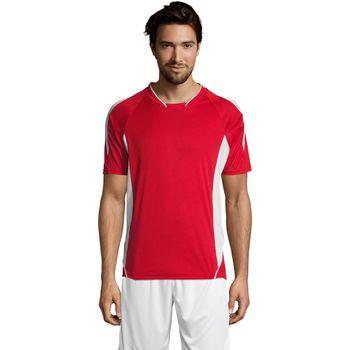 textil Herr T-shirts Sols MARACANA 2 SSL SPORT Rojo