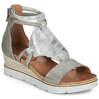 Skor Dam Sandaler Dream in Green IRABIEN Silver