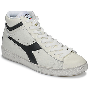 Skor Höga sneakers Diadora GAME L HIGH WAXED Vit / Svart
