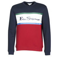 textil Herr Sweatshirts Ben Sherman COLOUR BLOCKED LOGO SWEAT Marin / Röd