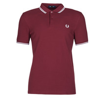 textil Herr Kortärmade pikétröjor Fred Perry TWIN TIPPED FRED PERRY SHIRT Bordeaux