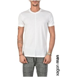 textil Herr T-shirts Xagon Man  Vit