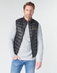 textil Herr Täckjackor Emporio Armani EA7 CORE ID 8NPQ02 Svart / Guldfärgad
