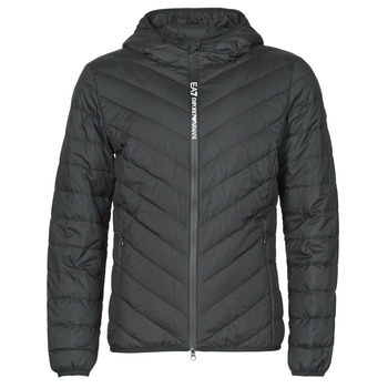 textil Herr Täckjackor Emporio Armani EA7 TRAIN CORE SHIELD M DOWN LIGHT HOODIE JACKET Svart