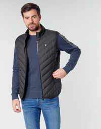 textil Herr Täckjackor Emporio Armani EA7 TRAIN CORE SHIELD M DOWN LIGHT VEST Svart
