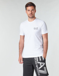textil Herr T-shirts Emporio Armani EA7 TRAIN LOGO SERIES M TAPE TEE ST Vit