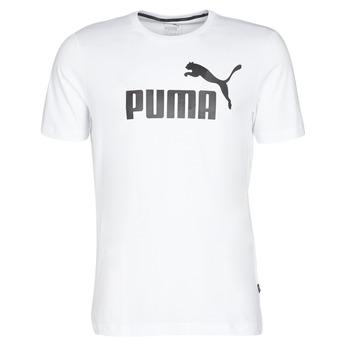 textil Herr T-shirts Puma ESSENTIAL TEE Vit