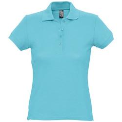 textil Dam Kortärmade pikétröjor Sols PASSION WOMEN COLORS Azul