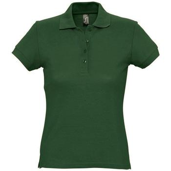 textil Dam Kortärmade pikétröjor Sols PASSION WOMEN COLORS Verde