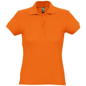 textil Dam Kortärmade pikétröjor Sols PASSION WOMEN COLORS Naranja