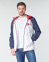 textil Herr Vindjackor Tommy Jeans TJM COLORBLOCK ZIPTHROUGH JCKT Vit / Blå / Röd