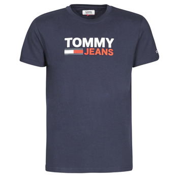 textil Herr T-shirts Tommy Jeans TJM CORP LOGO TEE Marin