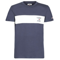 textil Herr T-shirts Tommy Jeans TJM CHEST STROPE LOGO Marin