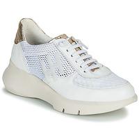 Skor Dam Sneakers Hispanitas CUZCO Vit / Guldfärgad / Rosa