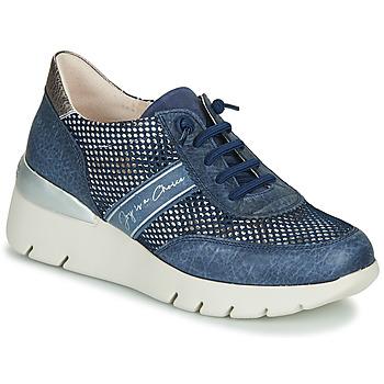 Skor Dam Sneakers Hispanitas RUTH Blå / Guldfärgad / Silver