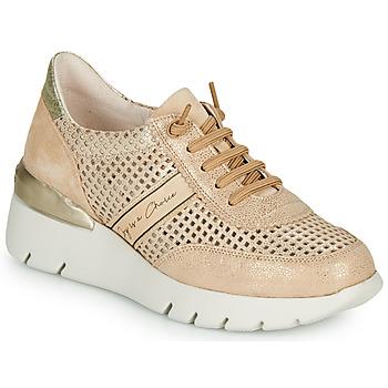 Skor Dam Sneakers Hispanitas RUTH Rosa / Guldfärgad / Vit