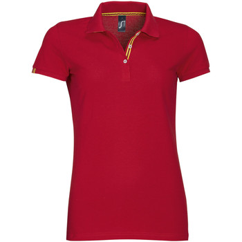 textil Dam Kortärmade pikétröjor Sols PATRIOT FASHION WOMEN Rojo