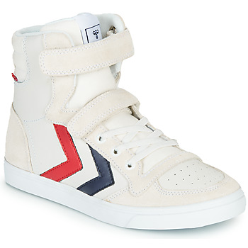 Skor Barn Höga sneakers Hummel SLIMMER STADIL LEATHER HIGH JR Vit