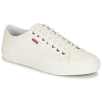 Skor Herr Sneakers Levi's WOODWARD Vit