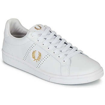 Skor Herr Sneakers Fred Perry B721 LEATHER Vit