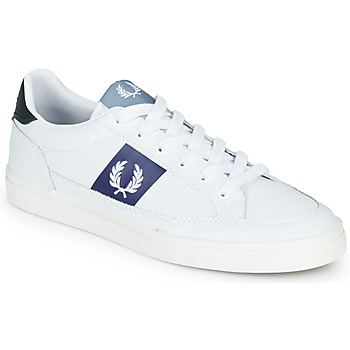 Skor Herr Sneakers Fred Perry B8198 LEATHER / WHITE / NAVY Vit