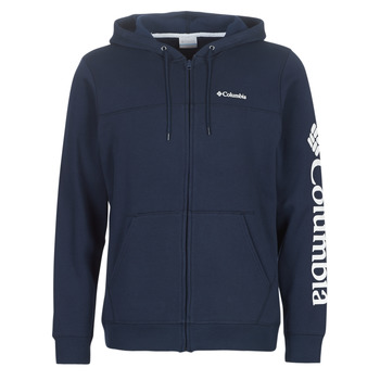 textil Herr Sweatshirts Columbia COLUMBIA LOGO FLEECE FULL ZIP Blå