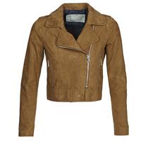textil Dam Skinnjackor & Jackor i fuskläder Oakwood PHOEBE Cognac / Mocka