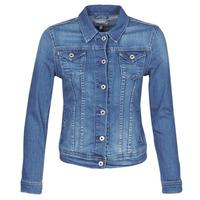 textil Dam Jeansjackor Pepe jeans THRIFT Blå / Hb6