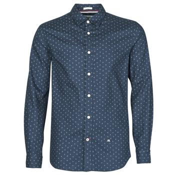 textil Herr Långärmade skjortor Pepe jeans ADAN Marin