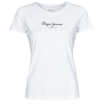 textil Dam T-shirts Pepe jeans NEW VIRGINIA Vit