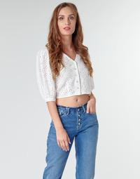 textil Dam Blusar Pepe jeans CLAUDIE Vit
