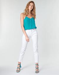 textil Dam Raka byxor Pepe jeans MARY Vit