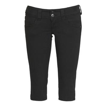 textil Dam Långshorts Pepe jeans VENUS CROP Svart