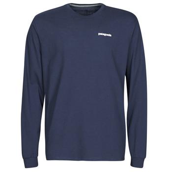 textil Herr Långärmade T-shirts Patagonia M's L/S P-6 Logo Responsibili-Tee Marin