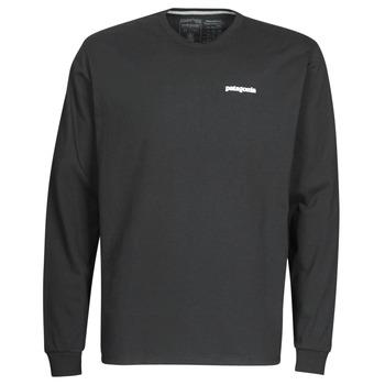 textil Herr Långärmade T-shirts Patagonia M's L/S P-6 Logo Responsibili-Tee Svart