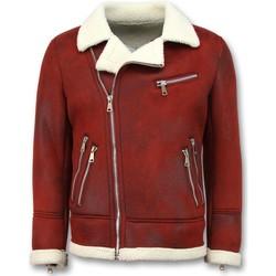 textil Herr Skinnjackor & Jackor i fuskläder Tony Backer Shearling Jacket Päls Bordeaux