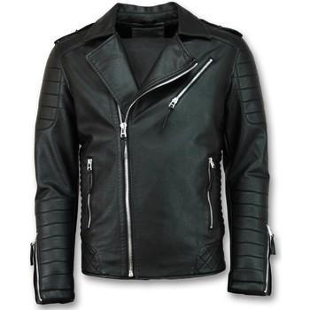 textil Herr Skinnjackor & Jackor i fuskläder Enos Mockajacka Faux Leather Jacket Svart