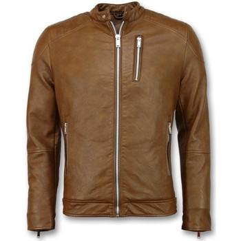 textil Herr Skinnjackor & Jackor i fuskläder Enos Skinnjacka Faux Leather Jacket Brun