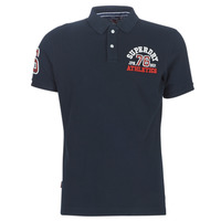 textil Herr T-shirts Superdry CLASSIC SUPERSTATE S/S POLO Blå