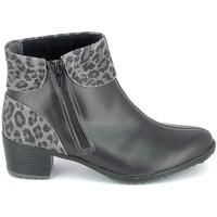 Skor Dam Stövletter Boissy Boots Noir Leopard Svart