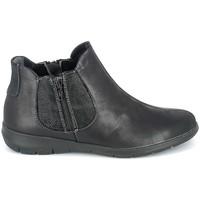 Skor Dam Boots Boissy Boots Noir texturé Svart