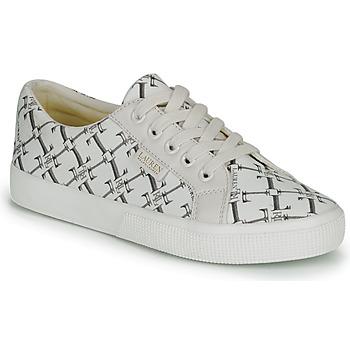 Skor Dam Sneakers Lauren Ralph Lauren JAYCEE NE SNEAKERS VULC Krämfärgad