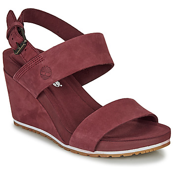 Skor Dam Sandaler Timberland Capri Sunset Wedge Bordeaux