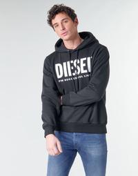 textil Herr Sweatshirts Diesel GIR-HOOD-DIVISION Svart