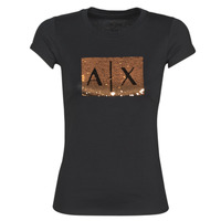 textil Dam T-shirts Armani Exchange HONEY Svart