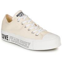Skor Dam Sneakers Converse CHUCK TAYLOR ALL STAR LIFT - OX Beige