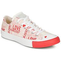 Skor Dam Sneakers Converse CHUCK TAYLOR ALL STAR - OX Vit / Röd