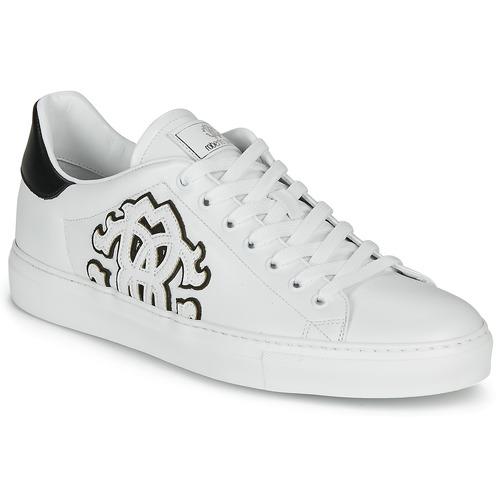 Skor Herr Sneakers Roberto Cavalli 1005 Vit / Svart